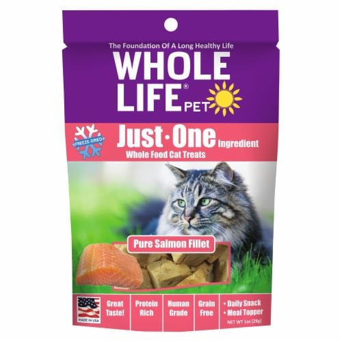 Whole Life Pet  Just One Ingredient Whole Food Cat Treats   Pure Salmaon Fillet Perspective: front