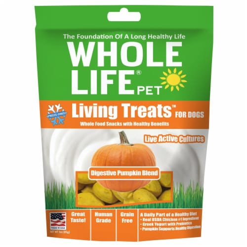 Whole Life Pet  Living Treats™ for Dogs   Digestive Pumpkin Blend Perspective: front