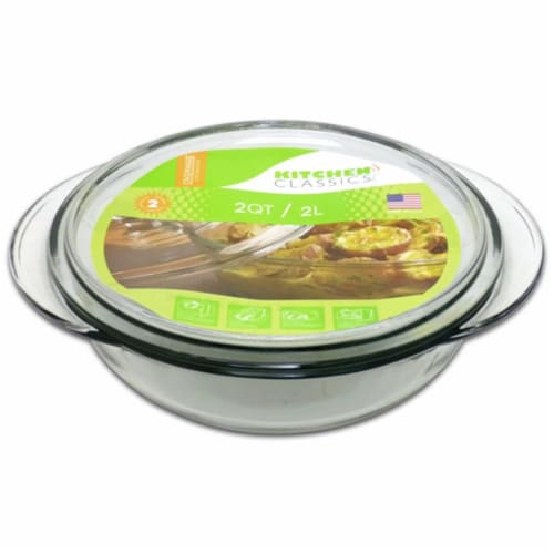 Libra 240463 1.5 Quarts Glass Casserole with Lid Perspective: front