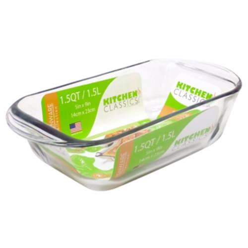 Libra 1.5 qt. Tempered Glass Loaf Baking Dish Perspective: front