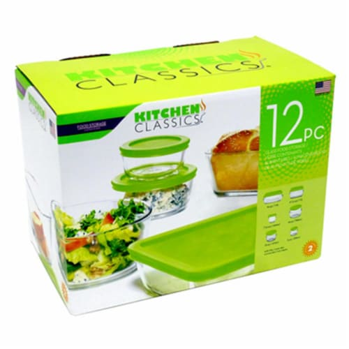 Libra 245172 Tempered Glass Food Storage Set, 12 Piece Perspective: front