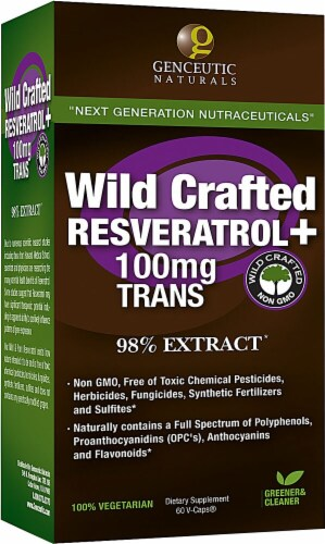 Genceutic Naturals  Wild Crafted Rseveratrol+ Perspective: front