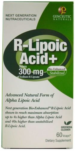 Genceutic Naturals  R-Lipoic Acid Plus Perspective: front