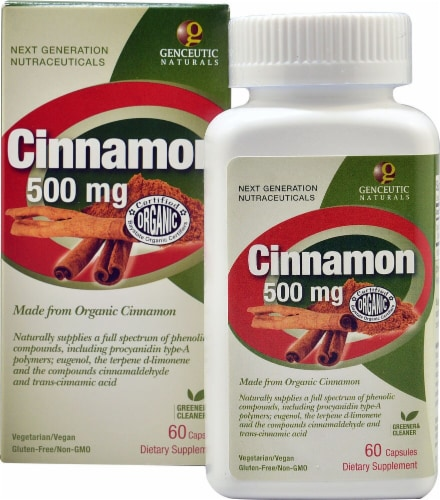 Genceutic Naturals  Organic Cinnamon Perspective: front