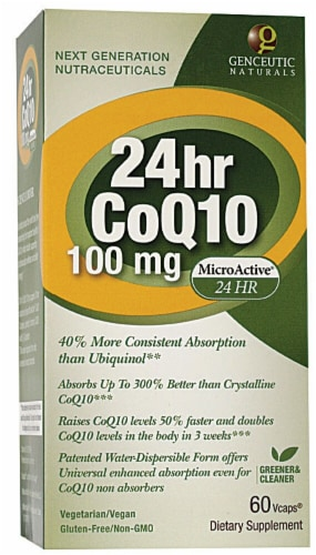 Genceutic Naturals  24 Hour CoQ10 Perspective: front