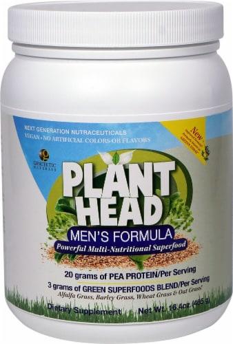 Genceutic Naturals Plant Head Men's Formula Pea Protein Powder Perspective: front