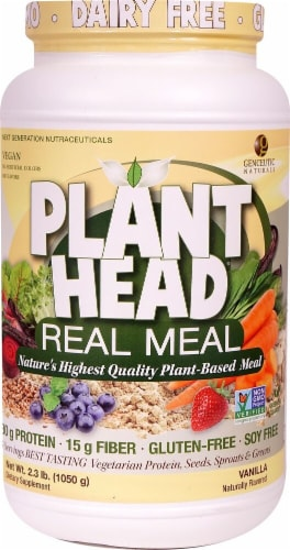 Genceutic Naturals  Plant Head™ Real Meal   Vanilla Perspective: front