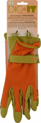 Dig It® Handwear Women's Garden Glove with Fingertip Protection - Small Medium - Orange Perspective: front