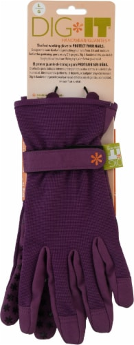Dig It Handwear - Women's Gardening Glove with Fingertip Protection - Large - Purple Perspective: front