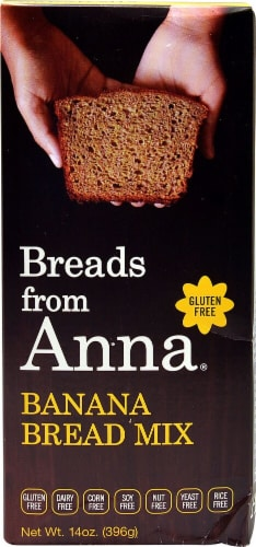 Breads From Anna Gluten Free Banana Bread Mix Perspective: front