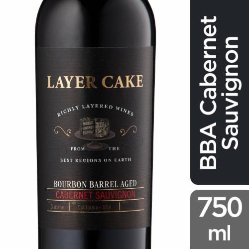 Layer Cake Wines Bourbon Barrel Aged Cabernet Sauvignon Perspective: front