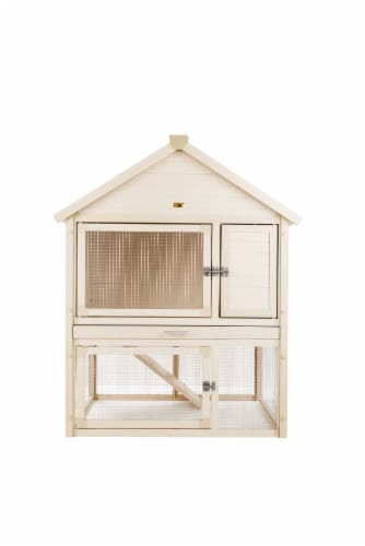 Huntington Rabbit Hutch /Maple Perspective: front
