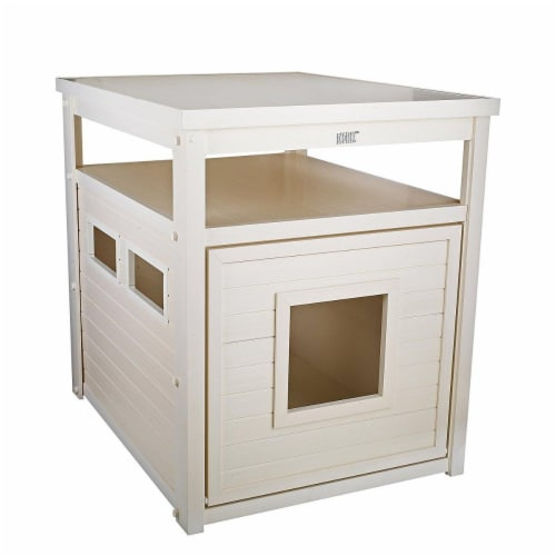 New Age Pet Jumbo Litterloo Litter Box Cover/End Table - Grey Perspective: front