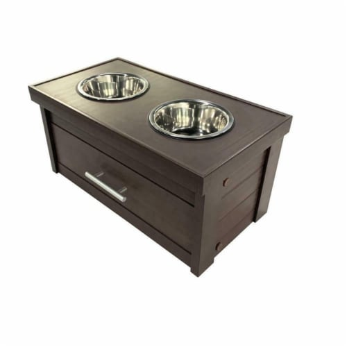 New Age Pet EHHF303S Small Piedmont Diner, Russet Perspective: front