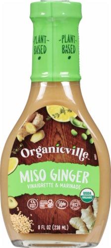 Organicville Miso Ginger Organic Vinaigrette Perspective: front