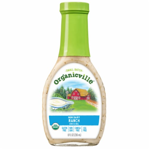 Organicville Non Dairy Gluten Free Organic Ranch Dressing Perspective: front