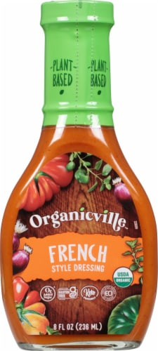 OrganicVille French Organic Dressing Made with Agave Nectar Perspective: front