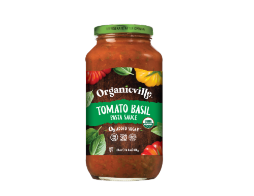 Organicville Organic Tomato Basil Pasta Sauce Perspective: front