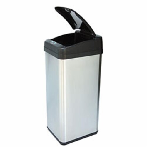 Itouchless It13Mx 13 Gallon Square Extra-Wide Opening Touchless Trash Can Mx Perspective: front