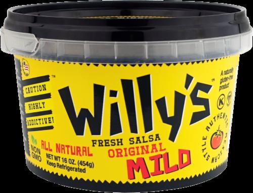 Willy's Fresh Vegan Mild Salsa Perspective: front