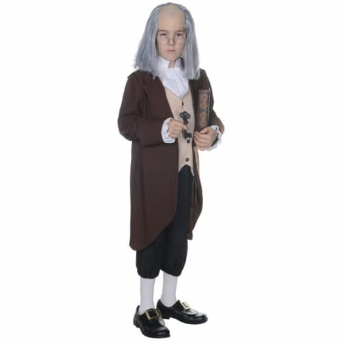 Morris UR25881SM Ben Franklin Child Costume, Size 4-6 Perspective: front