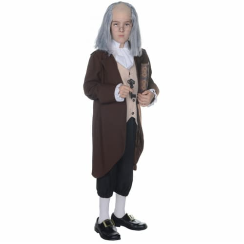 Morris UR25881LG Ben Franklin Child Costume, Size 10-12 Perspective: front