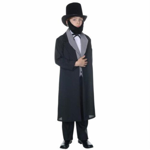 Morris UR25883SM Abraham Lincoln Child Halloween Costume, Small 4-6 Perspective: front