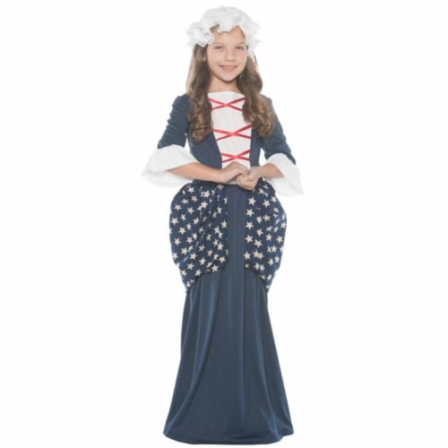 Morris UR25887MD Medium Betsy Ross Child Costume - Size 6-8 Perspective: front