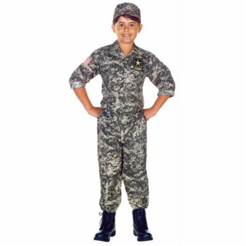 Costumes For All Occasions UR26200MD U.S. Army Camo Set Child 6-8 Perspective: front