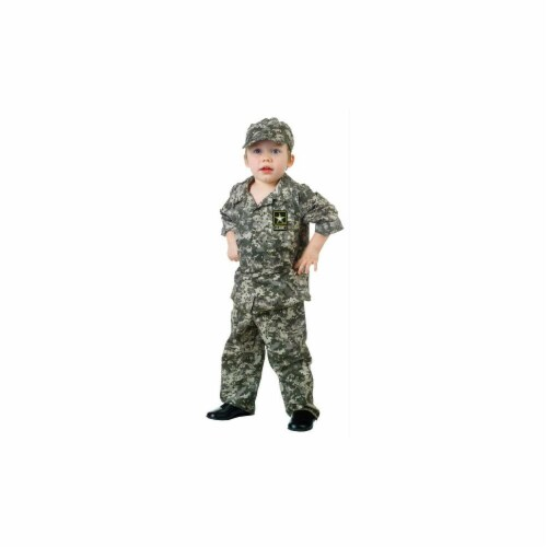 Costumes For All Occasions UR26052TL U.S. Army Camo Set-Todd. 2T-4T Perspective: front