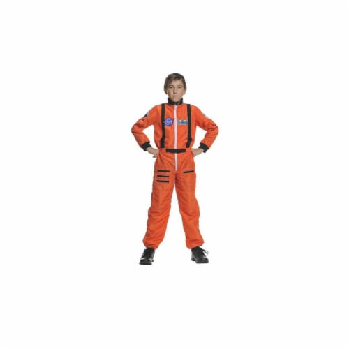 Costumes For All Occasions UR26981SM Astronaut Orange Child 4-6 Perspective: front