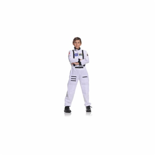 Underwraps UR26982-M Childs White Astronaut Costume MEDIUM Perspective: front