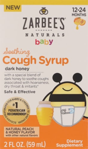 Zarbee's Baby Soothing Cough Syrup with Dark Honey - Peach Perspective: front