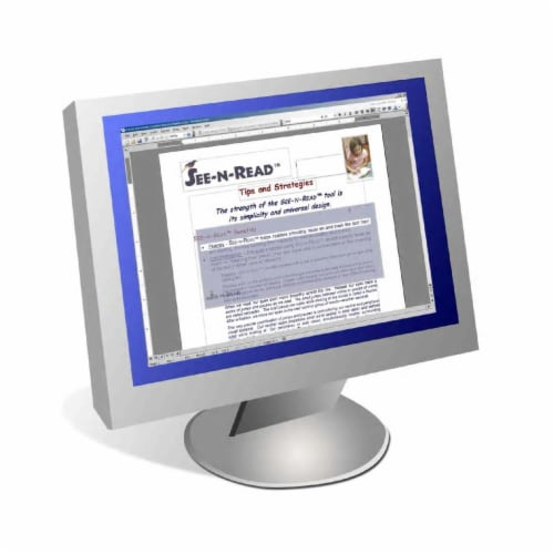 Cadena Smith Enterprises CE2001 eSee-N-Read Electronic Reading Tool for PCs- Home Edition- 1 Perspective: front