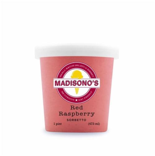 Madisono's Red Raspberry Sorbetto Perspective: front