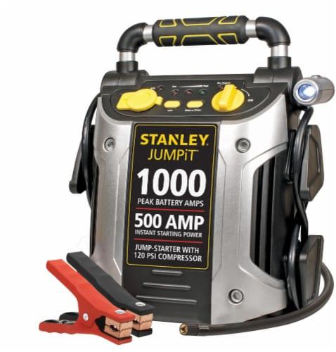 Stanley® 500 Amp Jump-Starter & Compressor Perspective: front