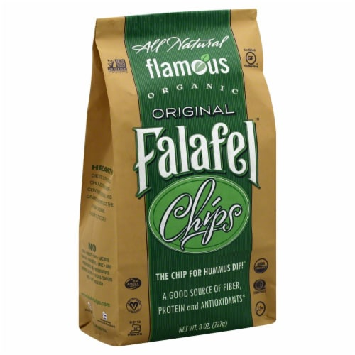 Flamous Organics Falafel Chips Perspective: front