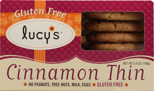 Lucy's Gluten Free Cinnamon Thin Cookies Perspective: front