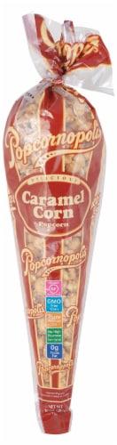 Popcornopolis Gourmet Caramel Popcorn Cone Perspective: front