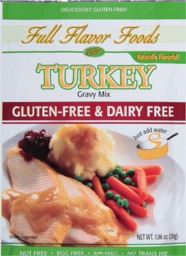 Full Flavor Foods Gluten-Free Turkey Gravy Mix Perspective: front