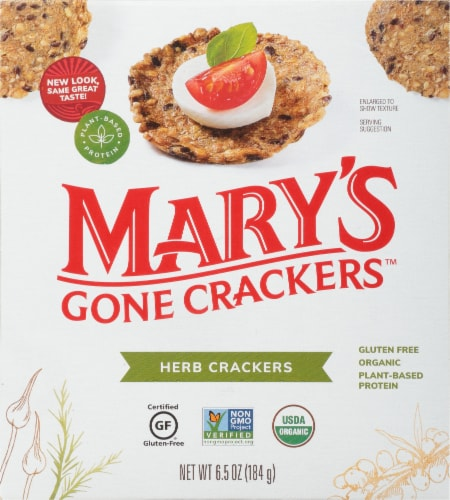 Mary's Gone Crackers Herb Crackers Perspective: front