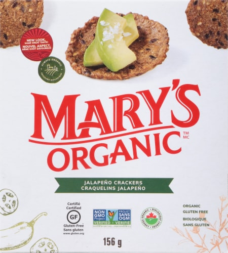 Mary's Gone Crackers Jalapeno Crackers Perspective: front