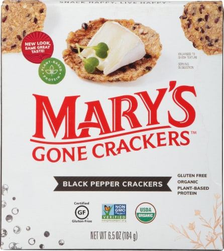 Mary's Gone Crackers Black Pepper Crackers Perspective: front