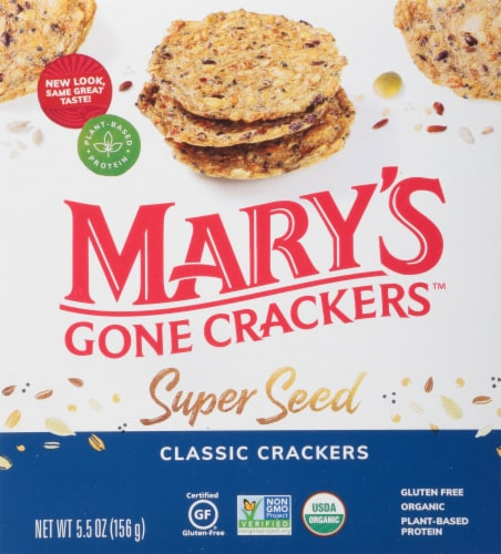 Mary's Gone Crackers Organic Super Seed Classic Crackers Perspective: front