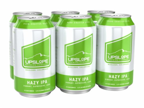 Upslope Brewing Co. Hazy IPA Perspective: front