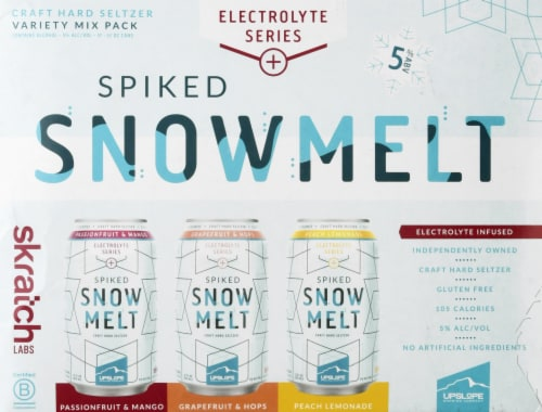 Upslope Brewing Co. Spiked Snowmelt Craft Hard Seltzer Variety Pack Perspective: front