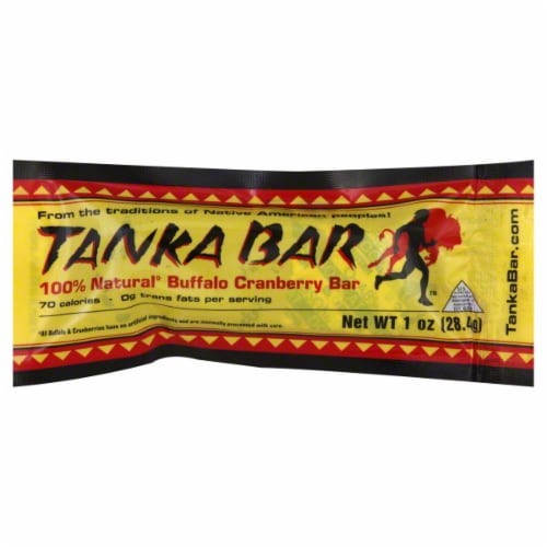 Tanka 100% Natural Buffalo Cranberry Bar Perspective: front