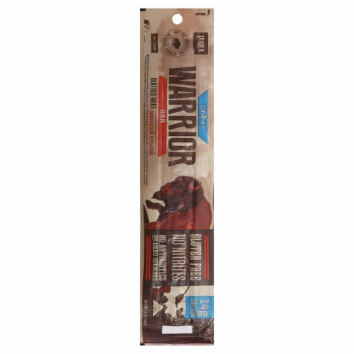Tanka Warrior Cranberries & Pepper Blend Buffalo Meat Bar Perspective: front