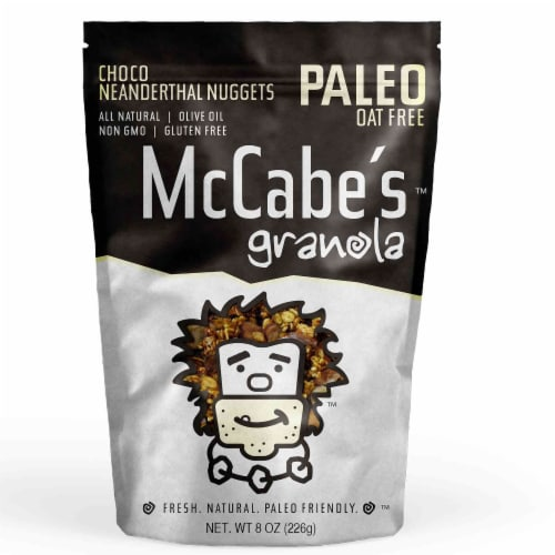 McCabe's  Granola Paleo Friendly Gluten Free   Choco Neanderthal Nuggets Perspective: front