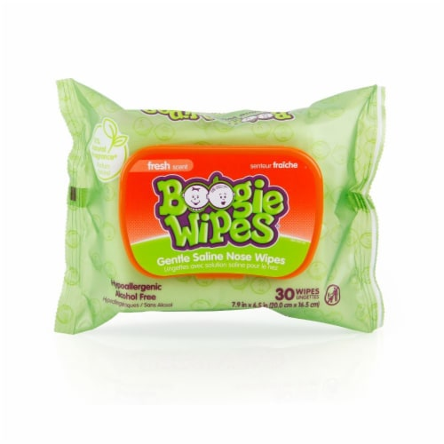 Boogie Wipes Fresh Scent Gentle Saline Nose Wipes Perspective: front